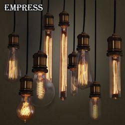 40 W нити ампулы старинная лампочка edison ЛАМПЫ Ретро лампа E27 220 V старый накаливания Ретро лампа декоративная лампа Эдисона