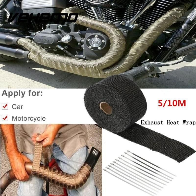 Heat Exhaust 10m Reflective Insulation Kit Refit Design Pipe Heat Shield Thermo Turbo Wrap Tape For Car Truck Intake Intercooler