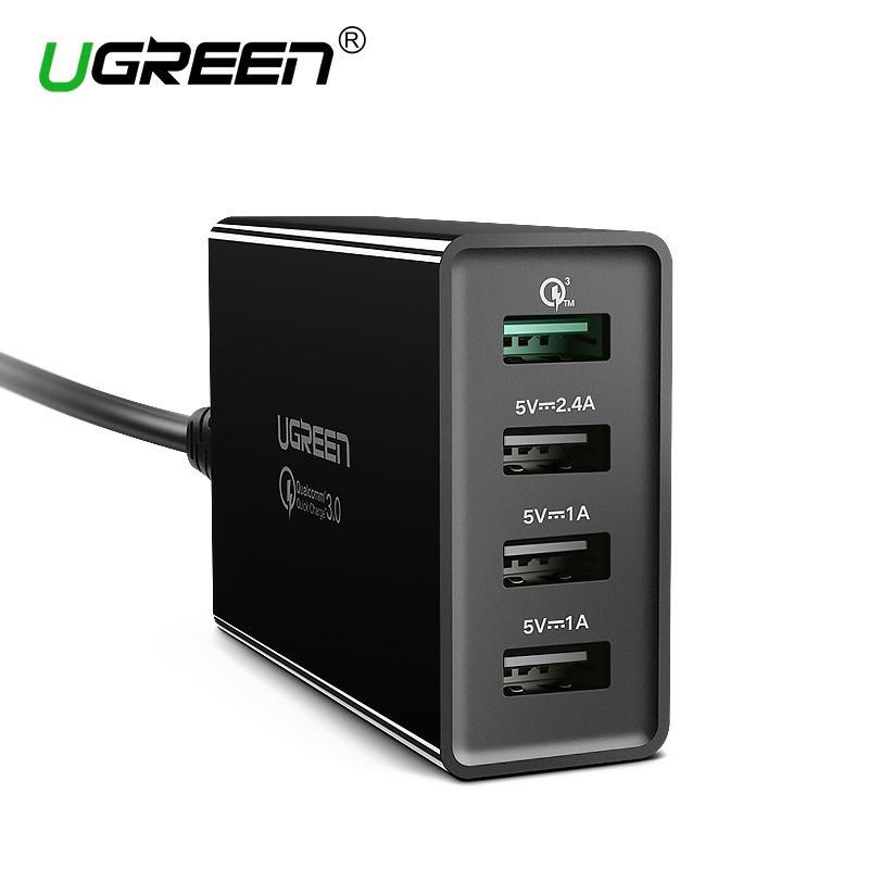 Ugreen 34W USB Charger Quick Charge 3.0 Fast Mobile Phone Charger for iPhone Samsung Xiaomi Nexus <font><b>Tablet</b></font> 4 Port Desktop Charger