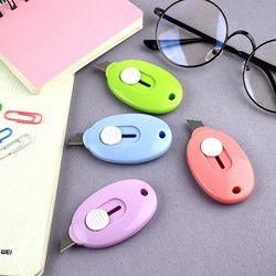 2 PCS/lot Mini Petit Utilitaire Couteau Bureau Papeterie De Coupe Couteaux Coupe-Papier Haute Qualité Alliage Couteaux Fournitures Scolaires