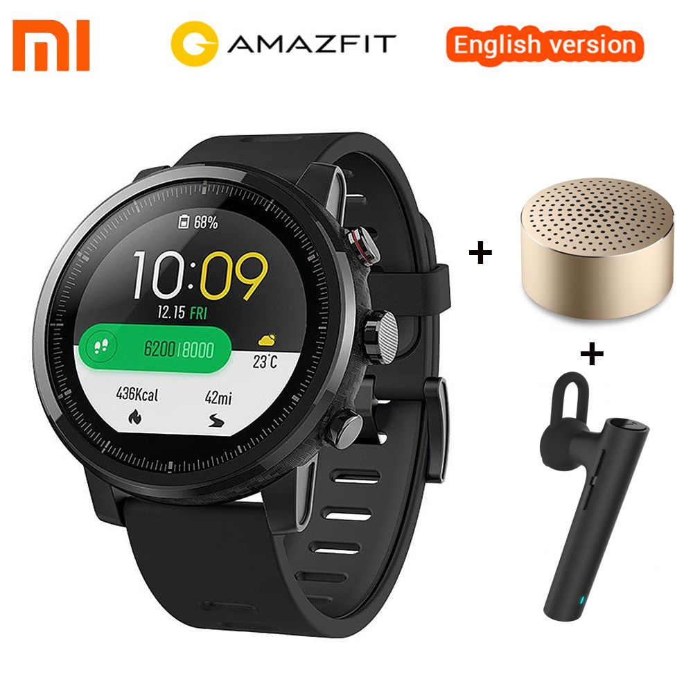 English Version Xiaomi Amazfit Stratos 2 Huami Amazfit Pace 2 Smart Watch GPS 5ATM Waterproof Smartwatch For Xiaomi iOS Android