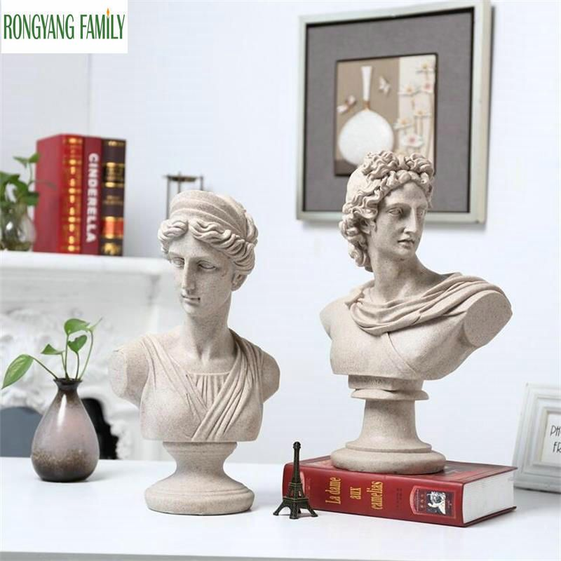 Creative European Resin Characters Statue Ornaments Home Living Room Decorations Home Sculpture Figurine Accessories Art Craft