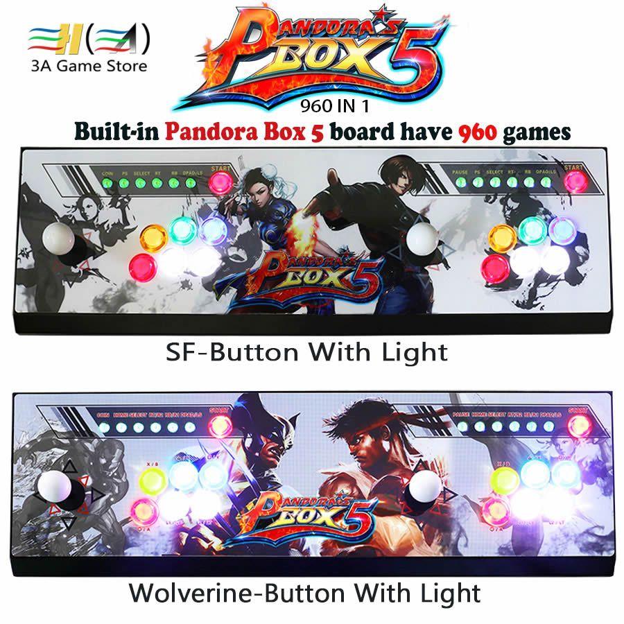 Büchse der Pandora 5 960 in 1 spiel arcade konsole usb joystick arcade tasten mit licht 2 spieler maschine pandora box 5 HD