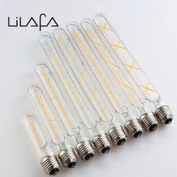 Edison vindima Lâmpada LED T10/T185/T225/T300 2/3/4/5/6 /7/8 w 110-130 v ou 220-240 v E27 Tubo De Filamento de Tungstênio Lâmpada