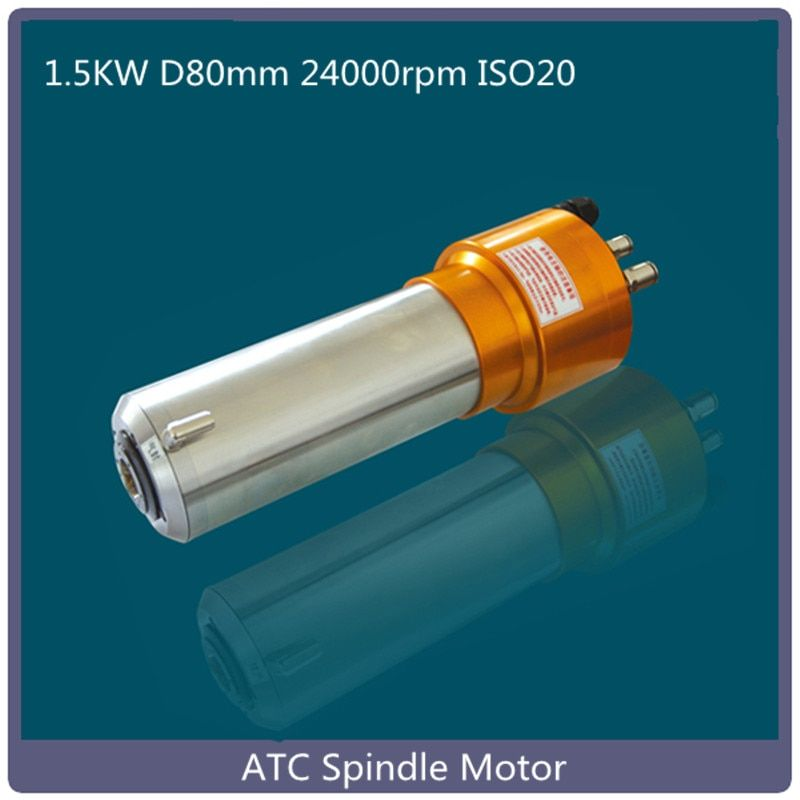 atc spindle 1.5kw 80mm ISO20 220V 24000rpm atc water cooled automatic tool change spindle