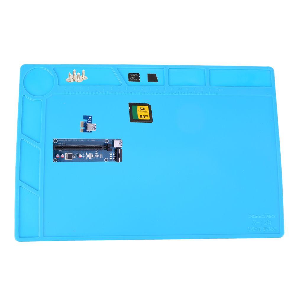 Isolation thermique Silicone Pad Électrique BGA À Souder Station De Réparation Plate-Forme de Maintenance avec Emplacement Vis Tapis 34X23 cm