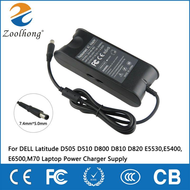 19.5 V 4.62A 90 W adaptateur secteur pour DELL Latitude D505 D510 D800 D810 D820 E5530, E5400, E6500, M70 chargeur d'alimentation pour ordinateur portable