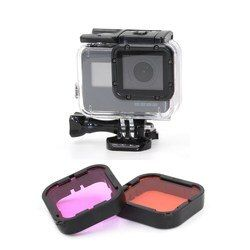 Original For GoPro Hero 6 5 Purple-Red Red Filter Lens For Blue Green Color Correction Underwater Photography