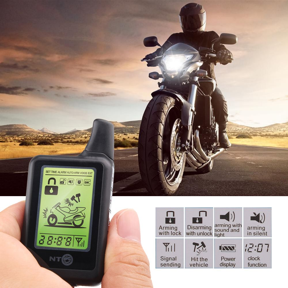2 варианта ЖК мотоцикл сигнализация Мотоцикл Anti-Theft охранной защиты от кражи 3500 м Диапазон мониторинга удаленный запуск двигателя