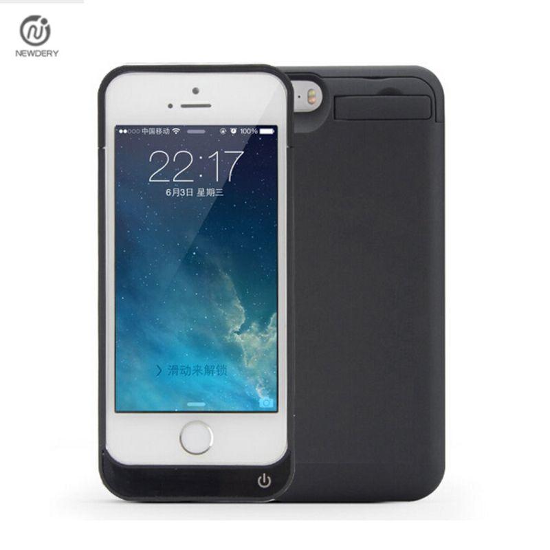 Высокое качество адаптер 4200 мАч внешний блок питания Зарядное устройство резервного копирования Аккумулятор Чехол для iPhone SE 5 5S 5C выбрать к...