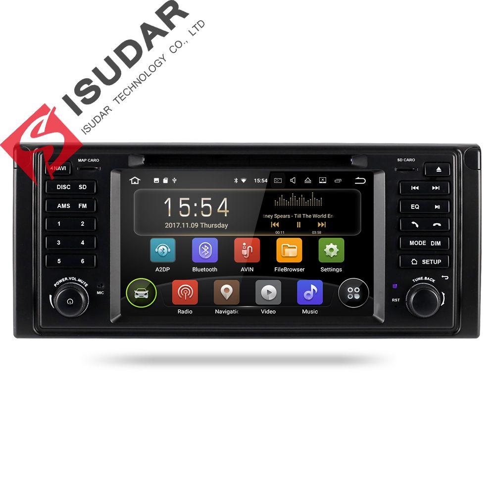 Isudar Auto Multimedia System Android 8.1 1 Din Automotivo DVD Für BMW 5 Series/X5 E53 E39 GPS Radio FM quad Core 2 + 16 gb USB DVR
