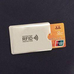 Anti Rfid cartera bloqueo Lock Reader Banco Id tarjeta bancaria caso protección de Metal soporte de la tarjeta de crédito de aluminio 6*9,3 cm