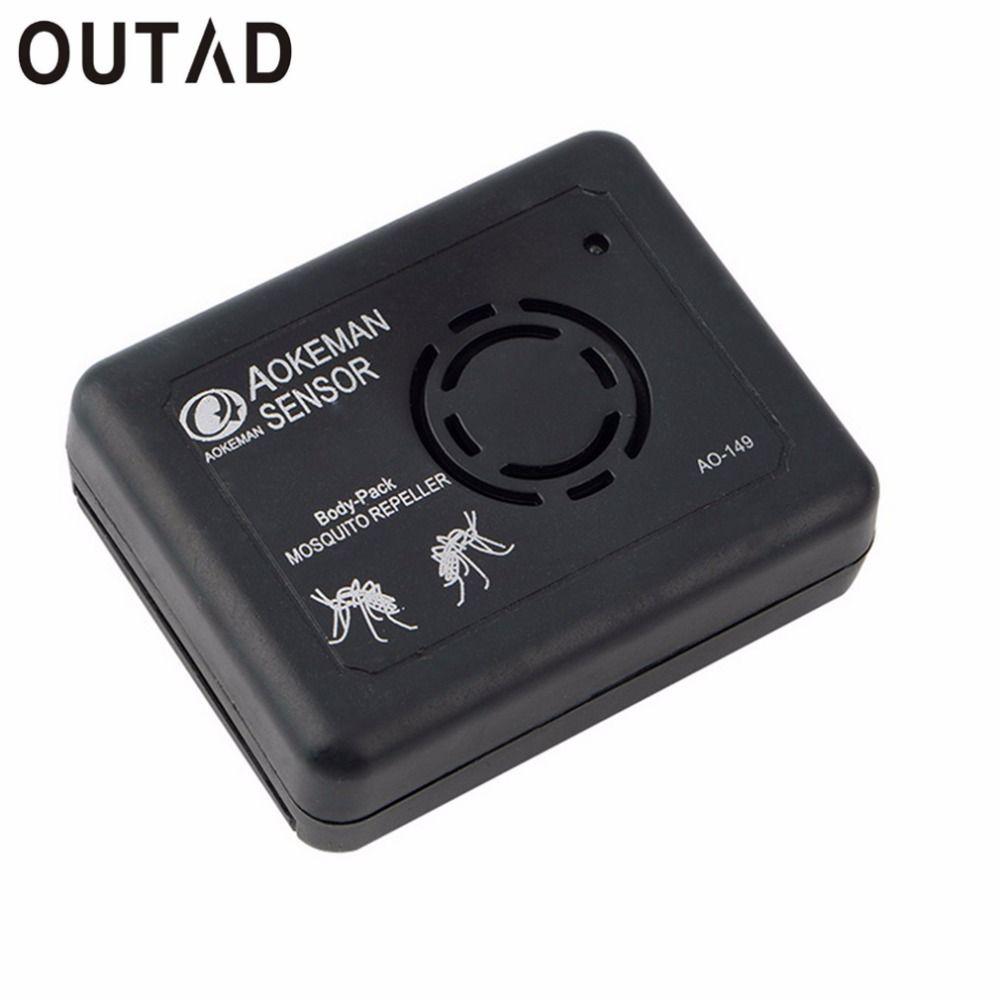 OUTAD Portable Électronique Ultrasons Anti Moustique Répulsif fréquence sonore Changer de Pêche Camping Moustique Répulsif avec clip