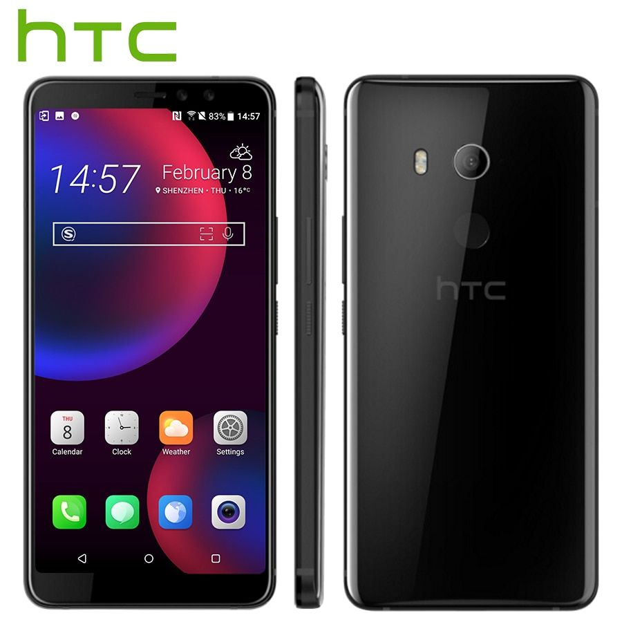 Original HTC U11 Augen 4G LTE Handy 4 GB 64 GB Snapdragon652 Octa-core 6,0 zoll Android 8.0 IP67 Wasserdicht NFC Smart telefon