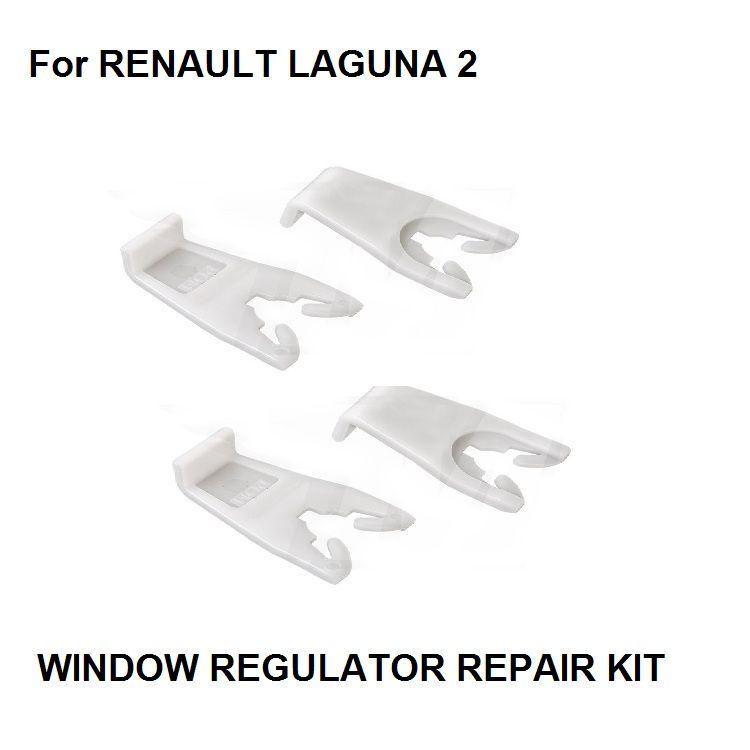 x4 PIECES CAR WINDOW PLASTIC CLIPS FOR RENAULT LAGUNA MK2 2 II WINDOW REGULATOR REPAIR KIT FRONT LEFT & RIGHT 2001-2007 NEW