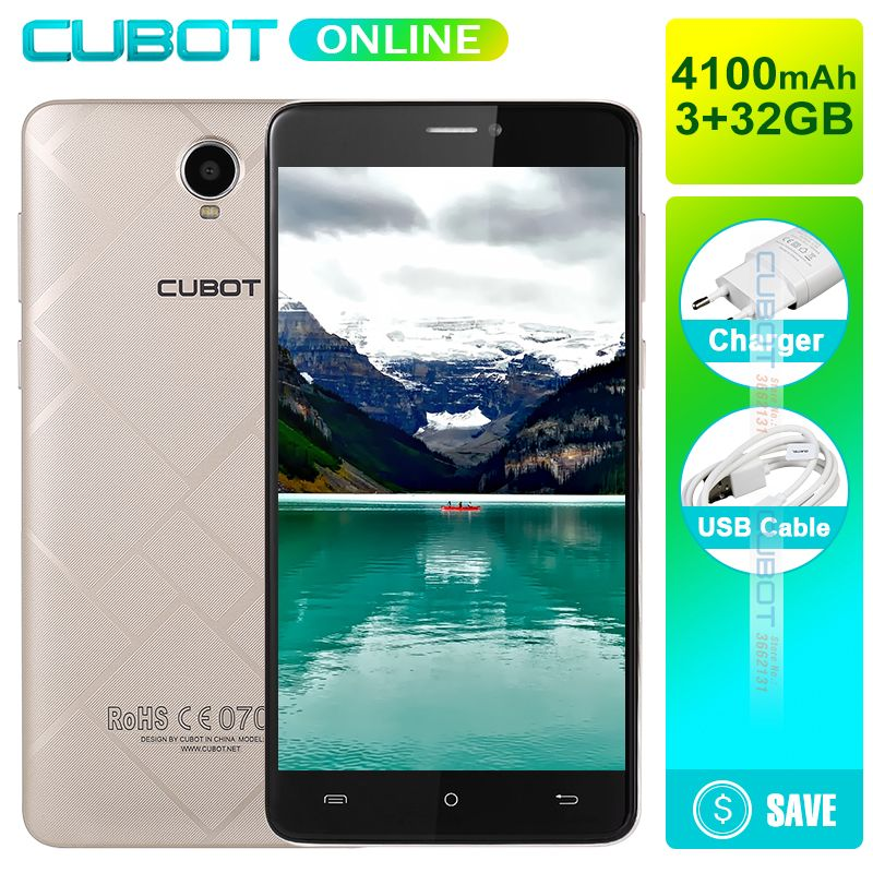 CUBOT MAX 6.0 Inch HD Display Smartphone MTK6753A Octa Core 3GB RAM 32GB ROM Android 6.0 4G Cell Phone 8.0MP Cellphone 4100mAh