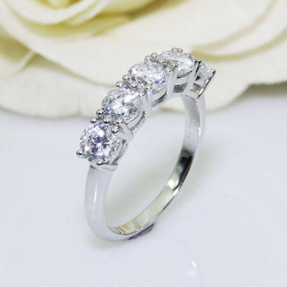 2.0CTW Rundschnitt DF Farbe Moissanite Zentrum, 14 Karat Solide Weiß Gold, weibliche Gold Ring, Hochzeit Ring, Pave Set Stil