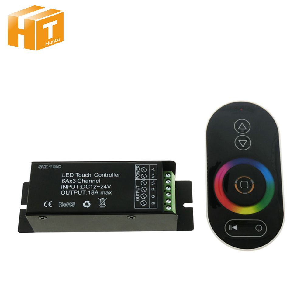 Touch LED RGB Controller RF Wireless Remote Control RGB / CT / DIM DC12-24V led controller dimmer for led strip light tape