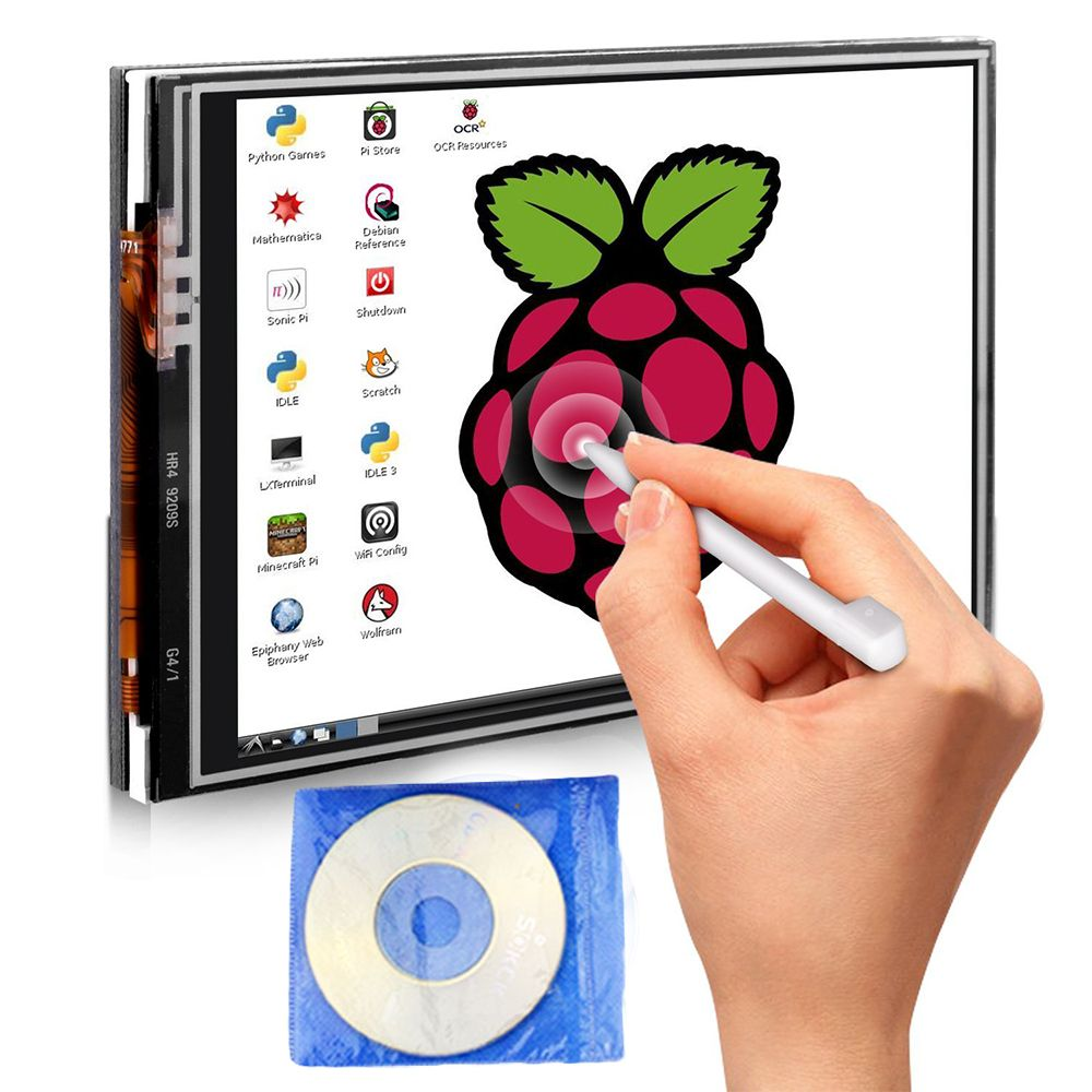 for Raspberry Pi 3 Model B 3.5 Inches Touch Screen Display Monitor 480x320 LCD Kit with 16GB TF Card