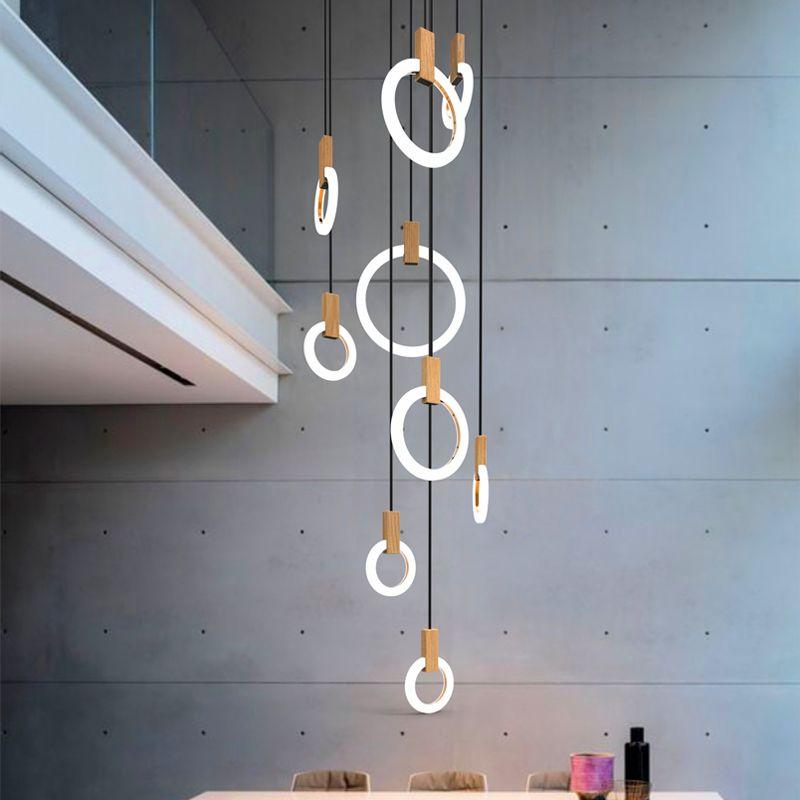 Moderne LED wohnzimmer ausgesetzt lampen Neuheit schlafzimmer leuchten Nordic esszimmer Anhänger Lichter restaurant hängen lichter