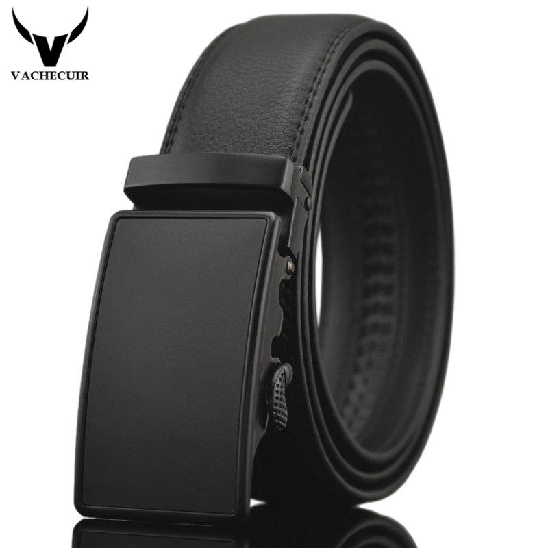 Business Belts For Men Ceinture Luxury Genuine Leather Belt Buckle <font><b>Wide</b></font> Belt Fashion Jeans Men Brand Pants Strap 130cm Q170