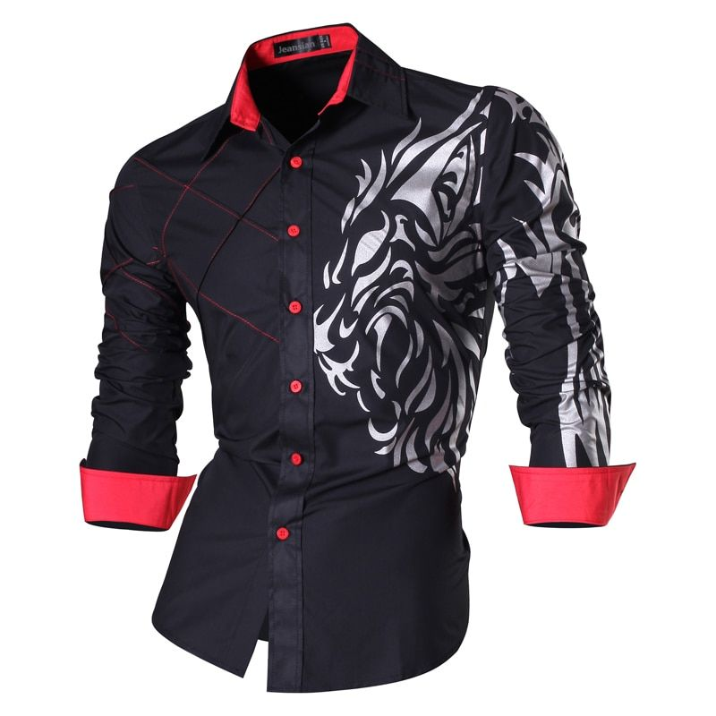 2018 Spring Autumn <font><b>Features</b></font> Shirts Men Casual Jeans Shirt New Arrival Long Sleeve Casual Slim Fit Male Shirts Z030
