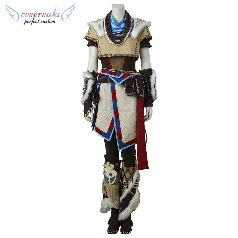Horizon: Null Morgendämmerung Aloy Cosplay Kostüme Bühne Performence Kleidung, Perfect Speziell für Sie!