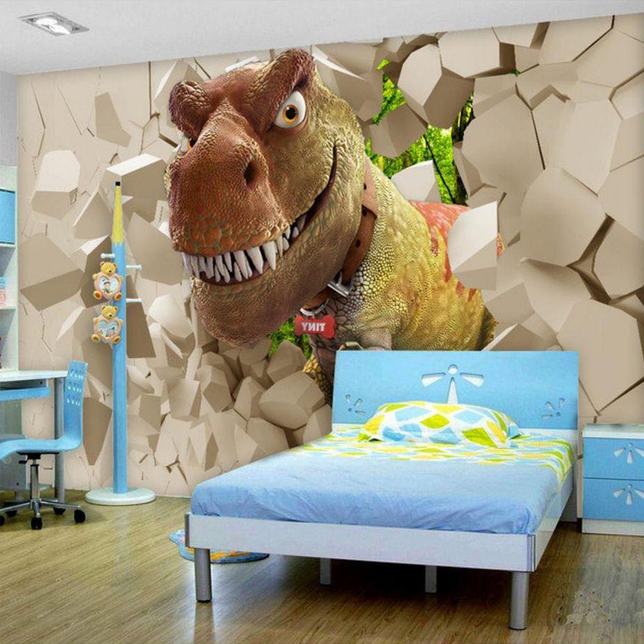 Benutzerdefinierte Große Wandbild Tapete Wand Dekorationen Wohnzimmer Schlafzimmer Tapete Wand Abdeckt Murales Para Pared 3D Cartoon Dinosaurier