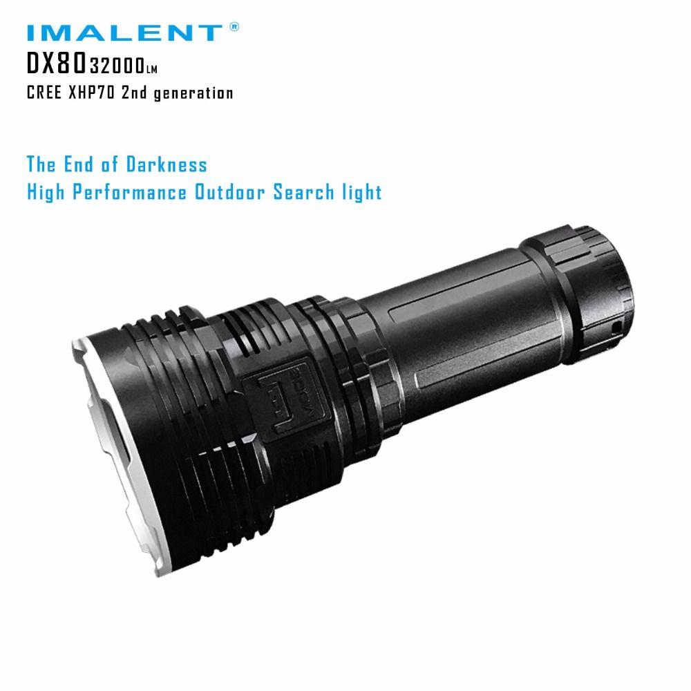 Imalent DX80 8 * CREEXHP70 светодиодный фонарик 32000 люмен луч расстоянии 806 м зарядка через USB Интерфейс фонарик