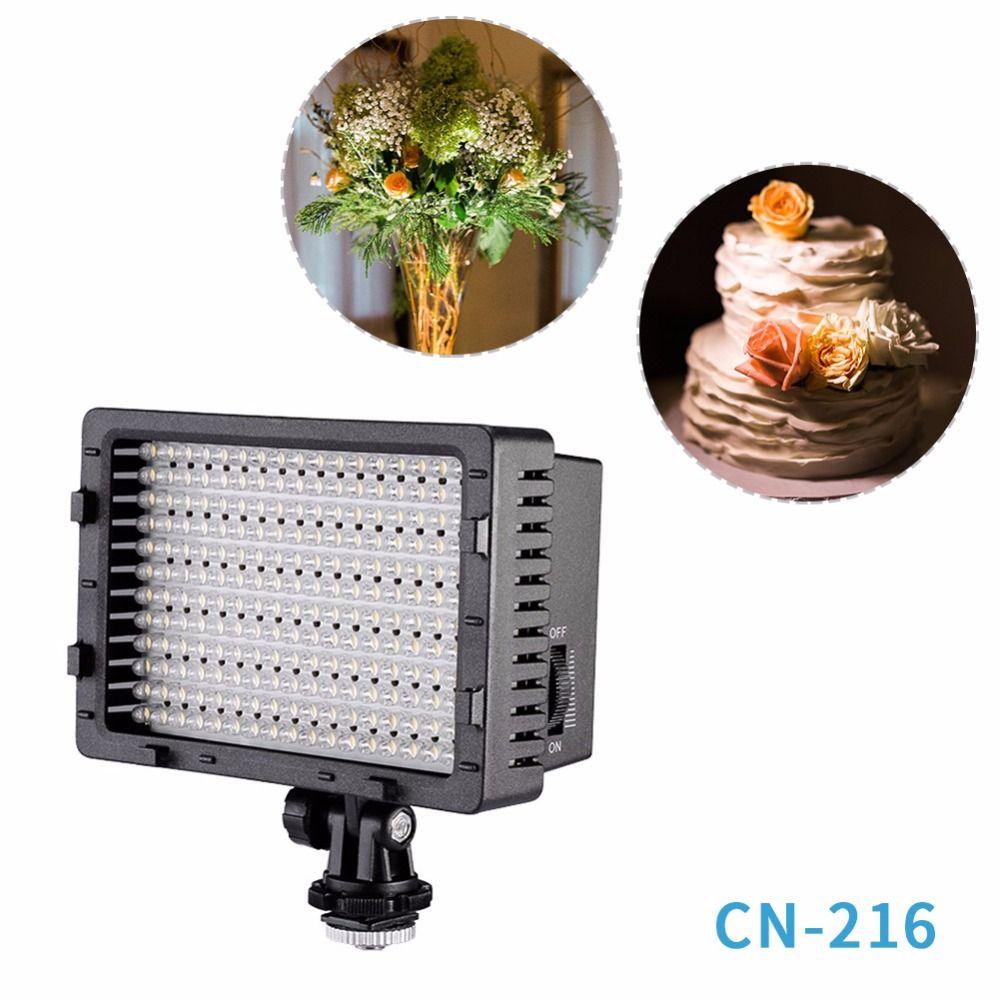NEEWER CN-216 panneau Ultra haute puissance appareil photo numérique/caméscope lumière vidéo, lumière LED pour les appareils photo reflex numériques Canon Nikon SONY