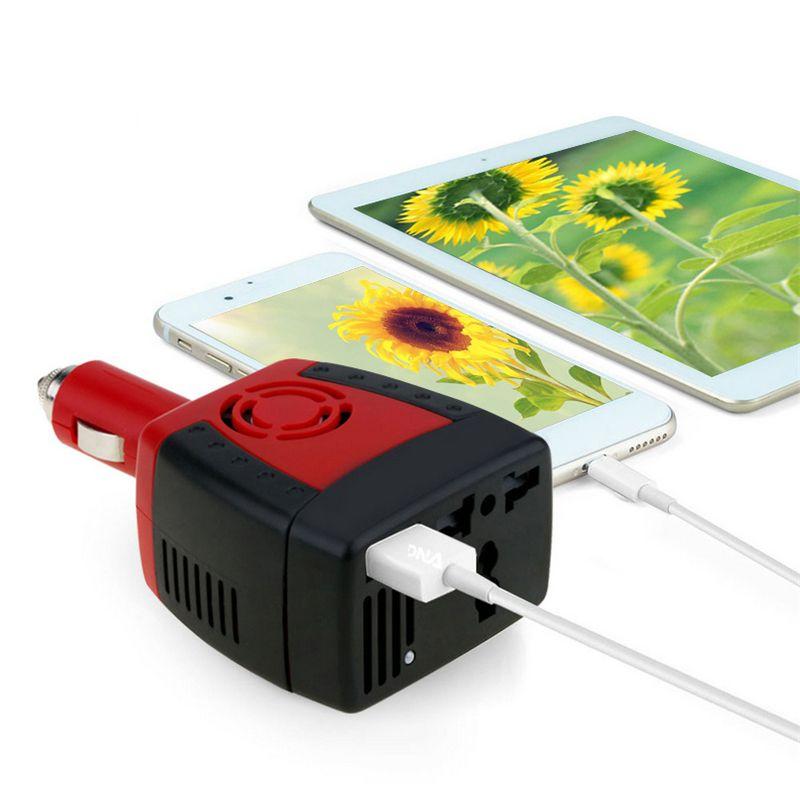 150W 2100mA Car inverter USB Power Supply DC 12 V - AC 220 V Converter Transformer Laptop Mobile Phone Charger Universal Socket