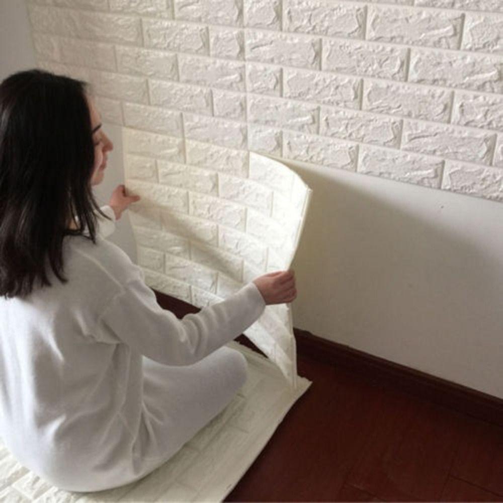 2017 NUEVO Blanco 3D Diseño Moderno de Ladrillo Wallpaper Rollo de Vinilo revestimiento de Paredes de Papel de Pared Salón Comedor Tienda de Fondo