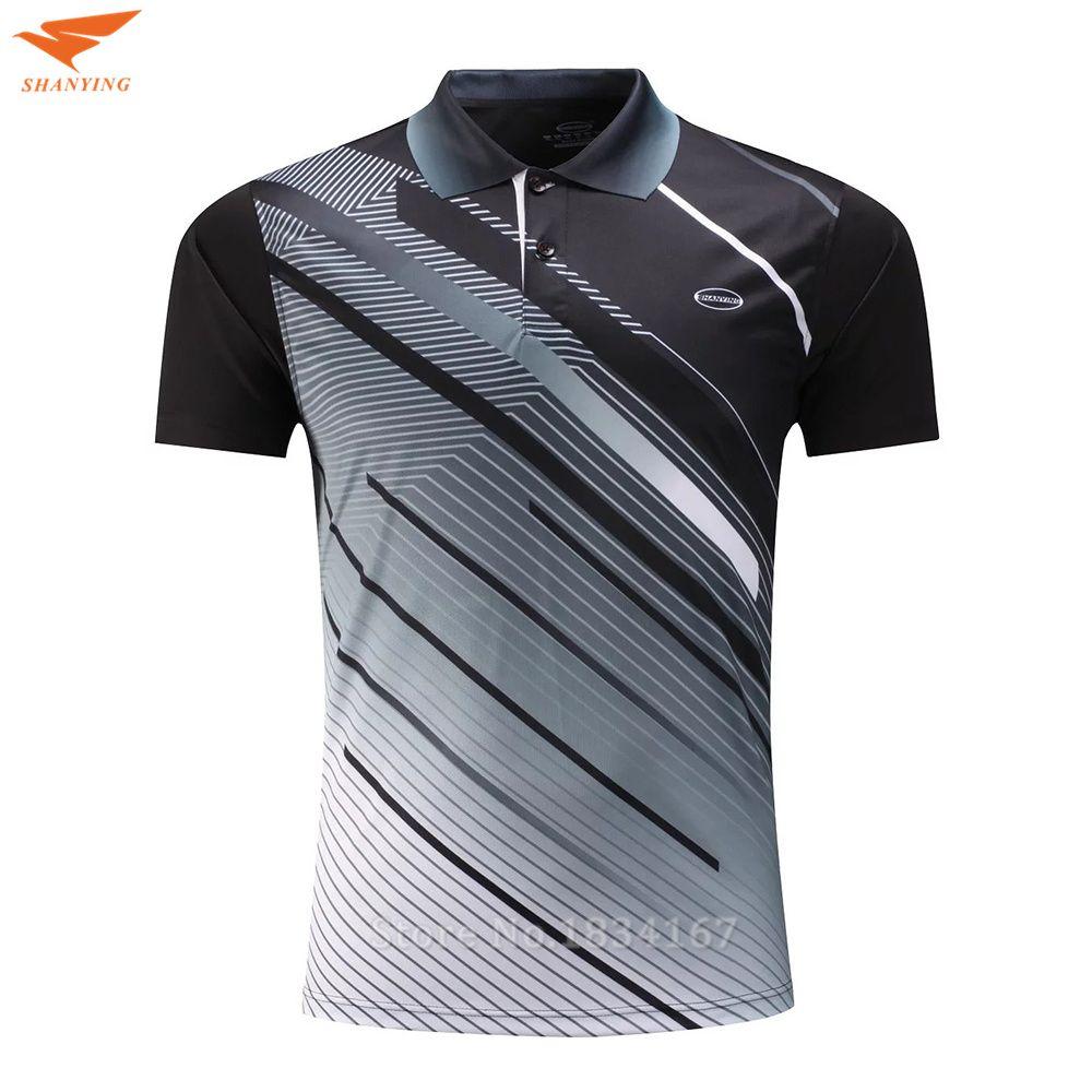 Одежда высшего качества Гольф рубашка Для мужчин спортивная одежда Мужские Поло рубашка Теннис Костюмы спортивные Бадминтон футболка дыша...