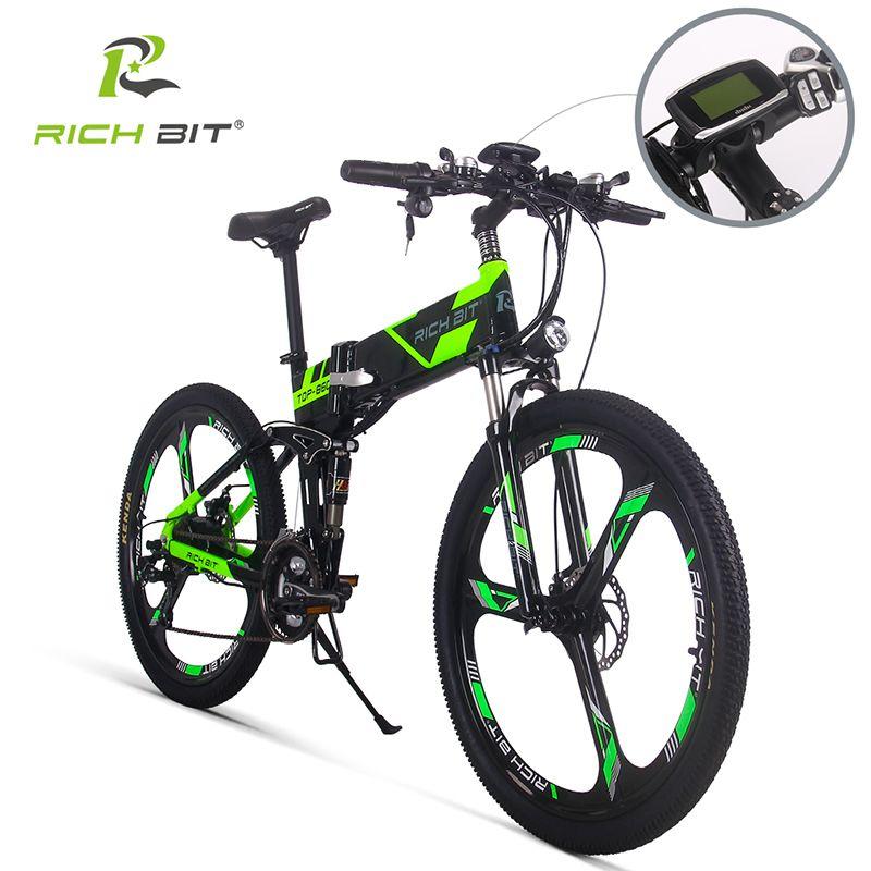 Richbit RT-860 vélo Électrique Vélo de Montagne Vélo Électrique 36 V * 250 W 12.8Ah EBike Batterie Au Lithium À L'intérieur Li-sur Batterie ebike