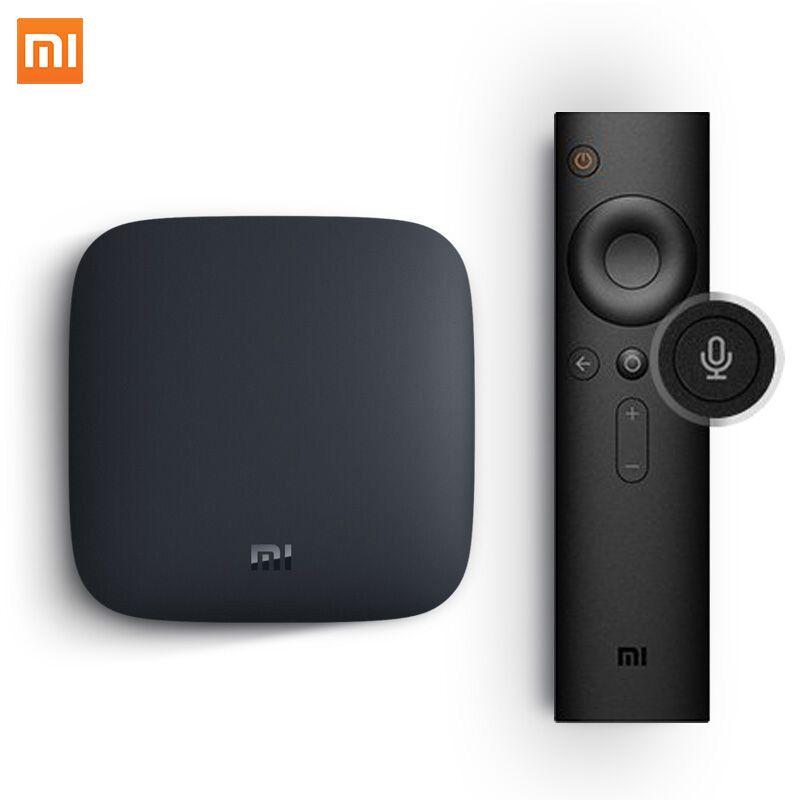 Version mondiale Xiao mi mi TV BOX 3 Android 8.0 décodeur intelligent 4K Quad Core eMMc 8GB Youtube Sling TV Netflix DTS Dolby IPTV