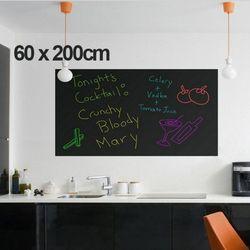 60x200 cm Tizas tablero Pizarras Adhesivos vinilo desprendible decoración mural tatuajes arte Tizas placa etiqueta de la pared para niños habitaciones