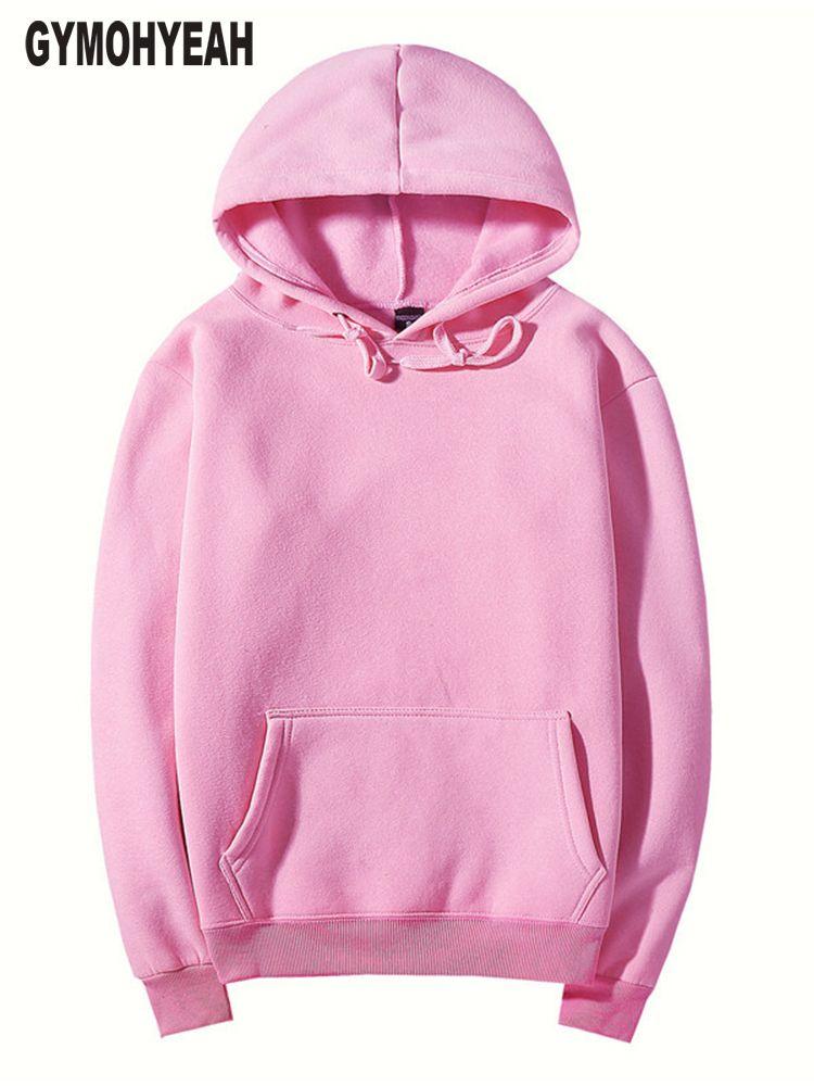 GYMOHYEAH rose haute qualité automne Hiver mode hommes hoodies coton épaissir polaire hommes pull survêtement hommes sweat