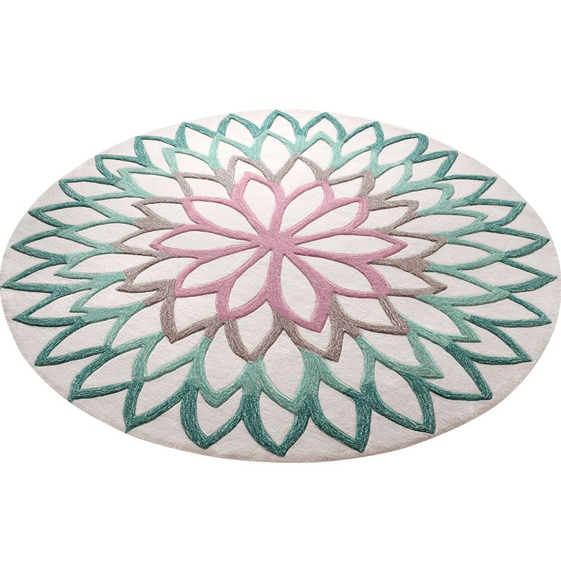 Imported Acrylic Round Carpet Home Decor Thick Bedroom Carpet Living Room Rug Computer Chair Rugs Kids Room Rugs Study Floor Mat
