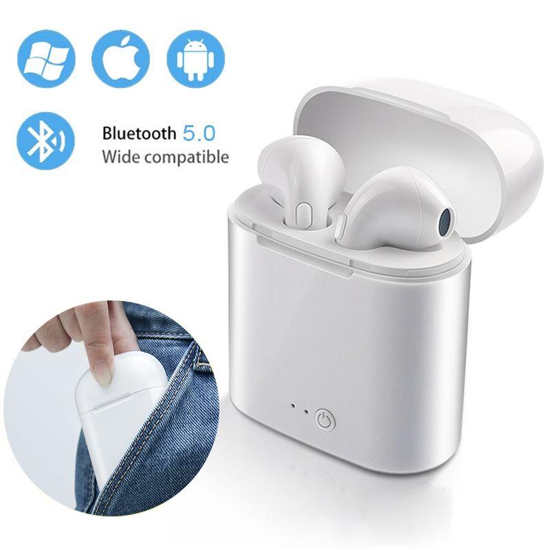 i7s TWS Wireless Bluetooth Earphone 5.0 Mini Stereo Earbud Headset Mic For iPhone Xiaomi All Smart Phone ear mini PK i9 i10 i12