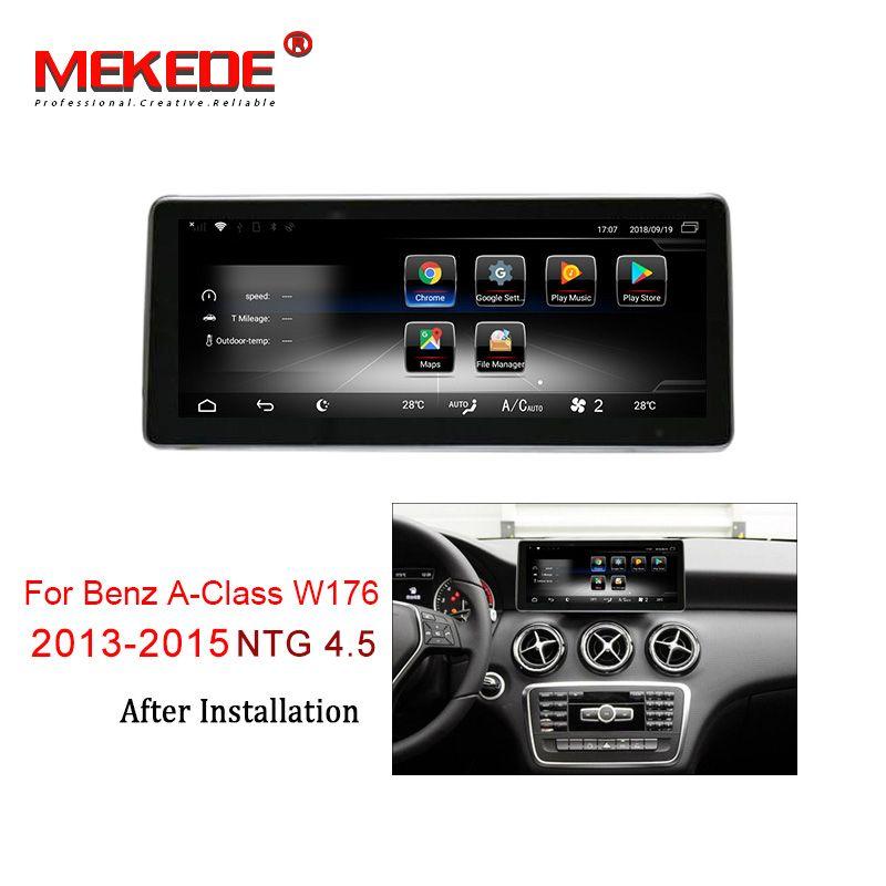 MEKEDE Auto Multimedia-Player 4G lte Android 7.1 3 + 32G Auto DVD-radio-player Für Mercedes BENZ A CLA GLA W176 2013-2015 NTG 4,5