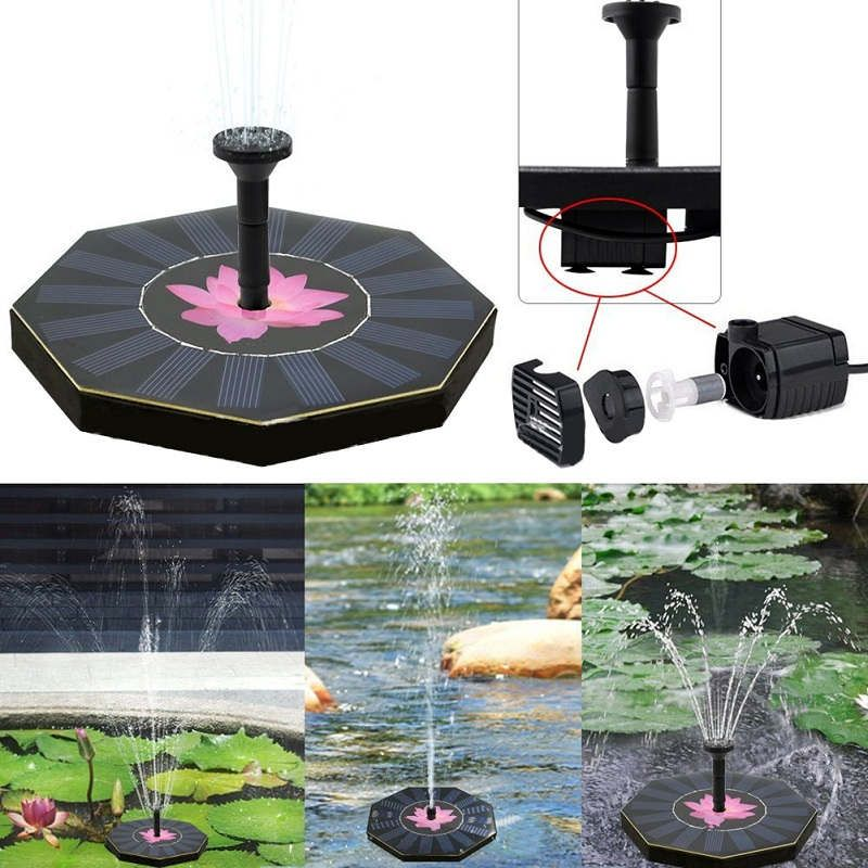 Solar Power Garden Water Fountain Artificial lotus Pattern Pump Outdoor Fountain For Home Garden Park Decoration Watering Kits