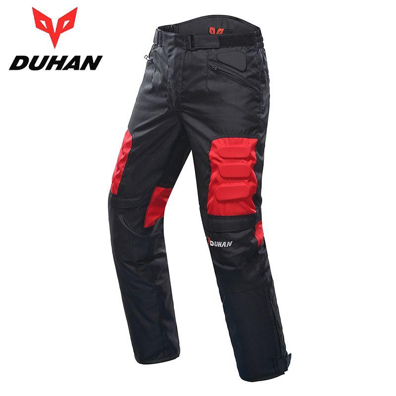 DUHAN Motorcycle Pants Riding Road Moto Pants Trousers Racing Pantalon Windproof Motobike Pants with Knee Pads Guards DK-02