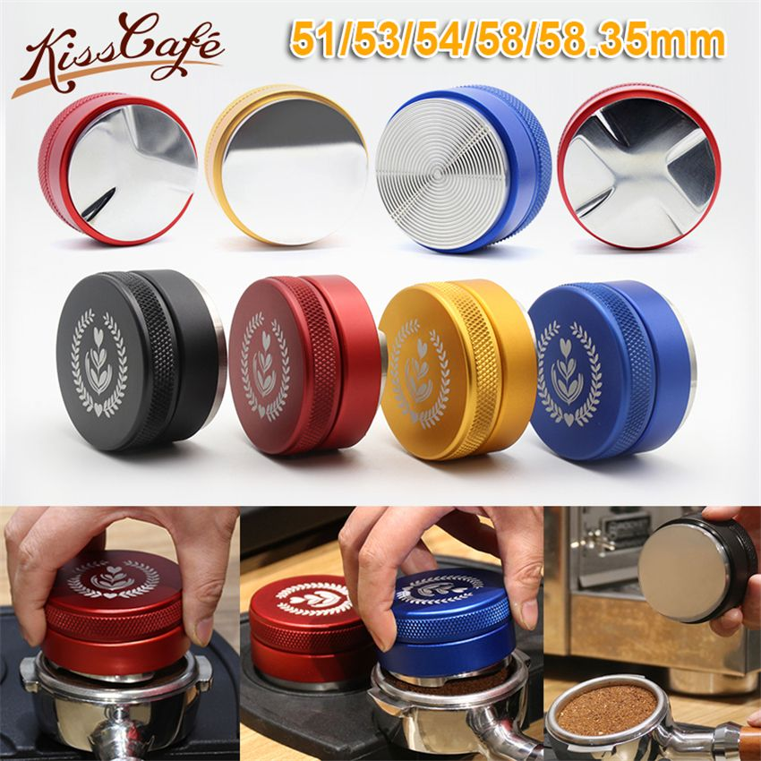 51/53/54/58/58.35mm réglable 304 acier inoxydable café expresso inviolable trois pentes coudées Base fil Distribution outils