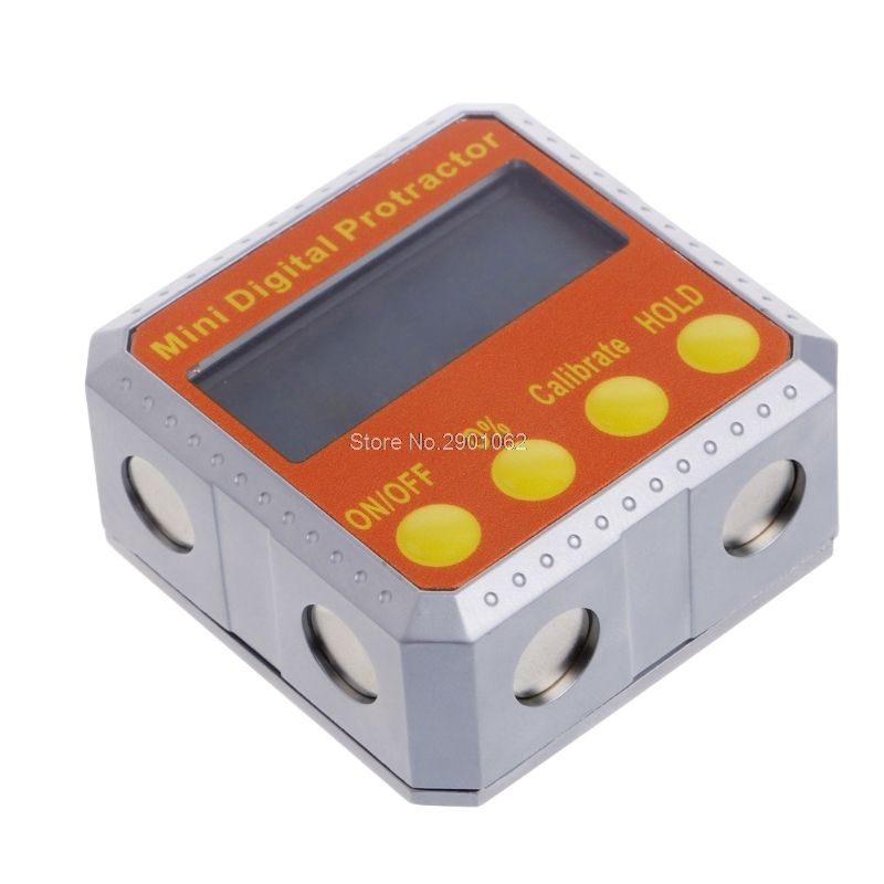 360 Degree Digital Protractor Inclinometer Electronic Level Box Magnetic Angle Gauge -B119