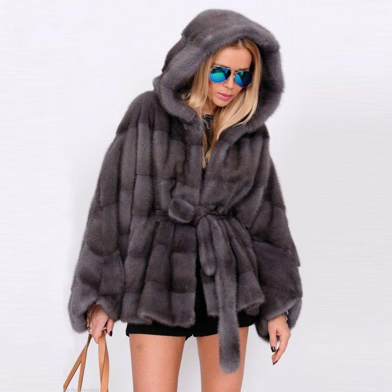Tatyana Furclub Real Natural Mink Fur Coat Stand Collar Bat Style Mink Fur Jacket Women Batwing Sleeve Overcoat Winter Real Fur