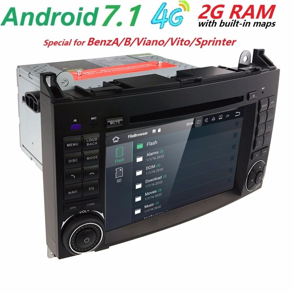 low price 2din Car DVD GPS Head unit for Mercedes Benz B200 A B Class W169 W245 Viano Vito W639 Sprinter W906 4G Bluetooth Radio