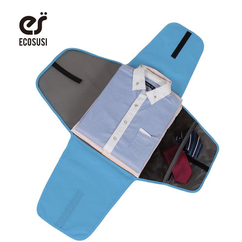 DE ECOSUSI Equipaje Equipo de Viaje de Prendas de vestir Camisa de Embalaje Organizadores de Viajes de Visita de la Carpeta Accesorios Para Organizador De Negocios Para Los Lazos