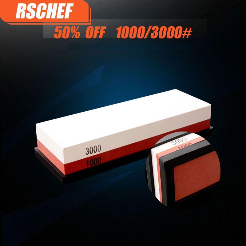 1000 3000 # professionelle Küche Whetstone Schleifsteine für ein Messer Doppelseite Messerschärfer System geschirr