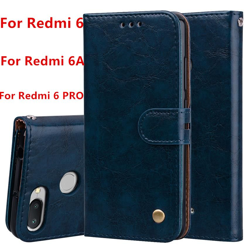 Xiaomi Redmi 6A Case Redmi 6 Cover Redmi 6 PRO Couqe Soft Silicone Back Cover Leather Flip Case For Redmi 6 pro 6 A Phone Cases