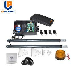 LPSECURITY DC12V AC220V линейный привод червь Шестерни автоматические распашные ворот (фотоэлементы, лампа, кнопки, gsm, клавиатура опционально)